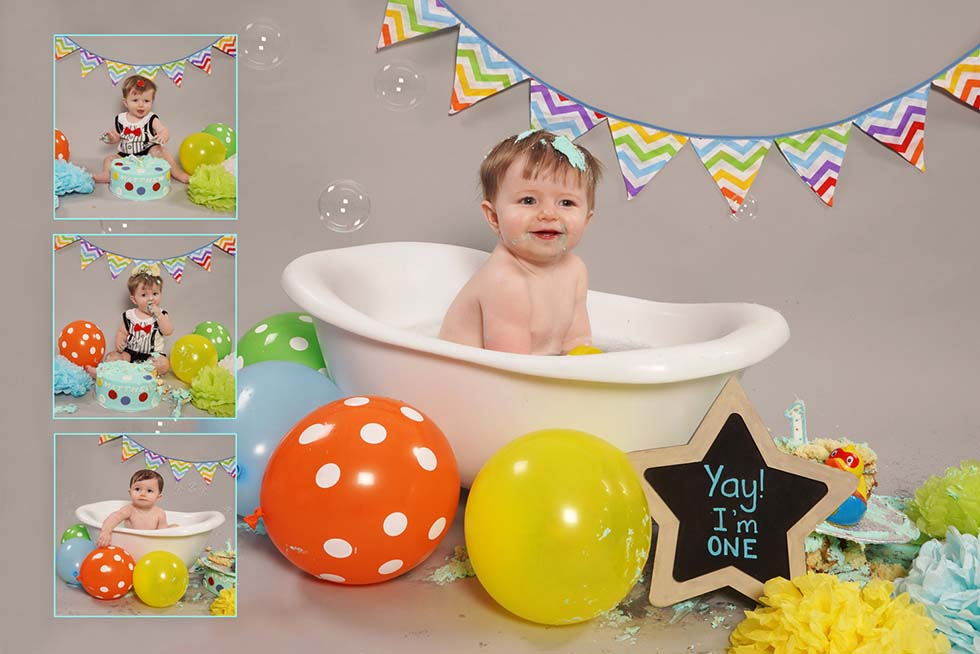 1st birthday, Cake Smash, cake smashing, oldham, manchester, northwest