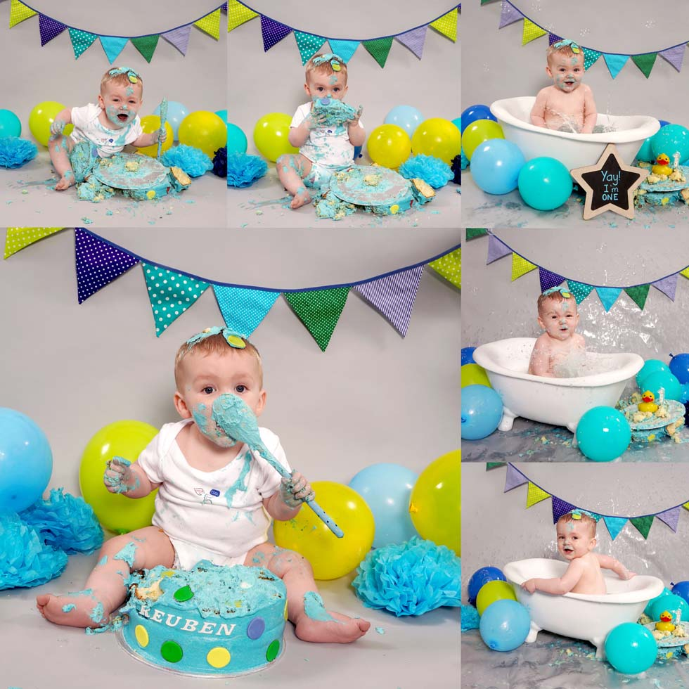 cake smash, cake smashing, 1st Birthday cake smash, oldham, northwest