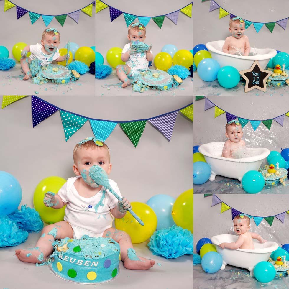cake smash, cake smashing, 1st Birthday cake smash, oldham, northwest
