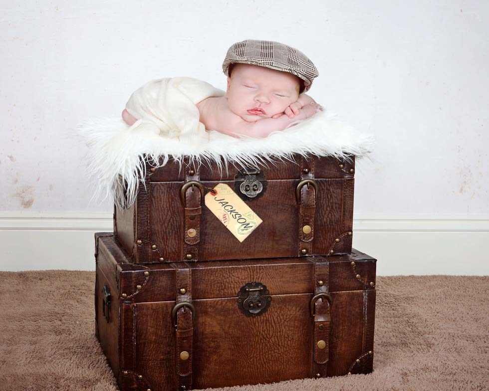 Newborn baby boy, vintage theme, newborn baby photographer