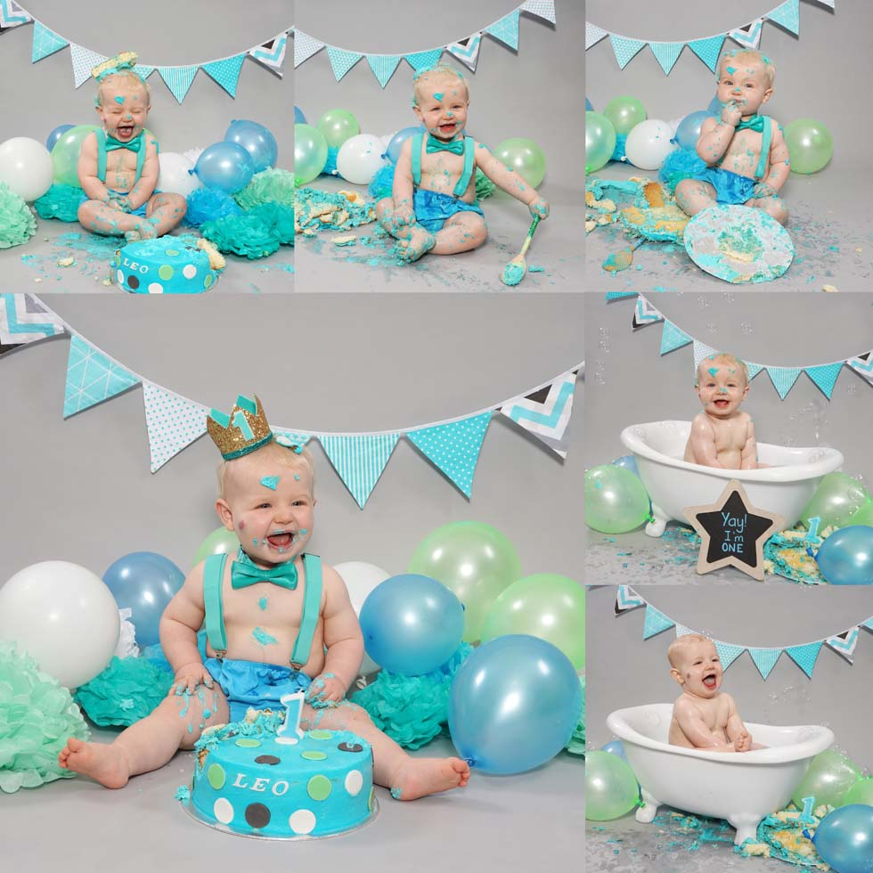 cake smash, cake smashing, 1st Birthday cake smash